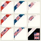 USA and UK Corner tags