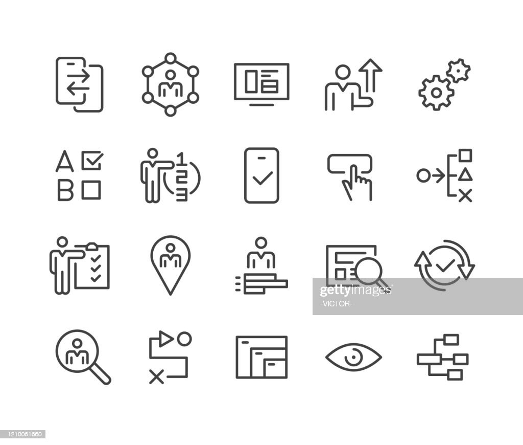 UI- und UX-Symbole - Classic Line Series : Stock-Illustration