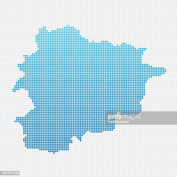Andorra Map Blue Dot Pattern