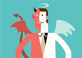 Angel and Devil Businessman | New Business Concept