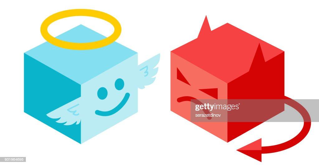 Angel and devil in isomertry.