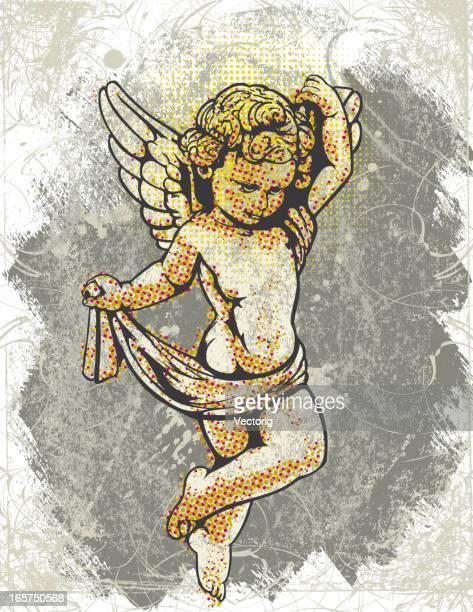 angel background - cherub stock illustrations