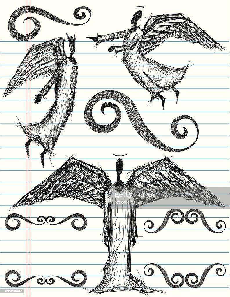 Angel doodles