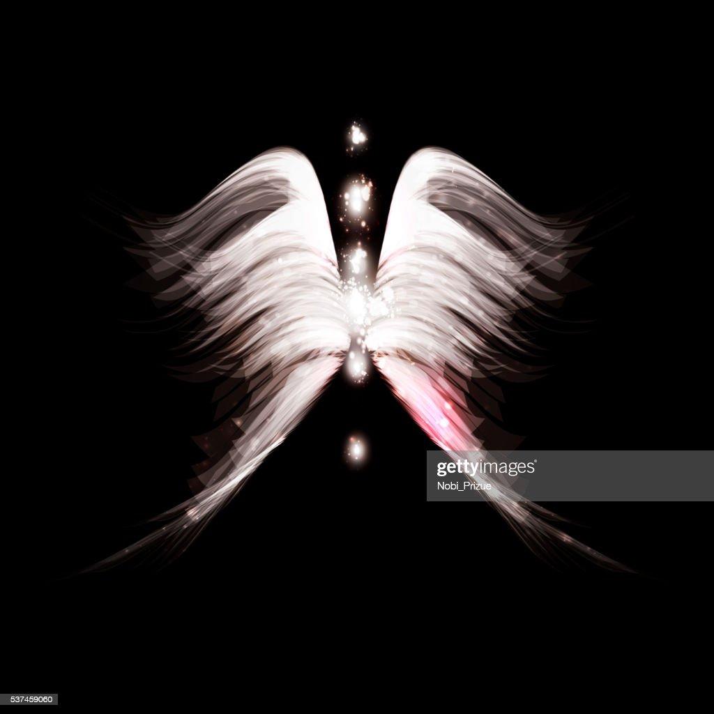 Angel futuristic background