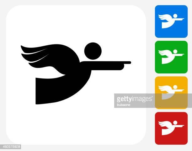 Angel Icon Flat Graphic Design