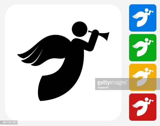 Ángel iconos planos de diseño gráfico