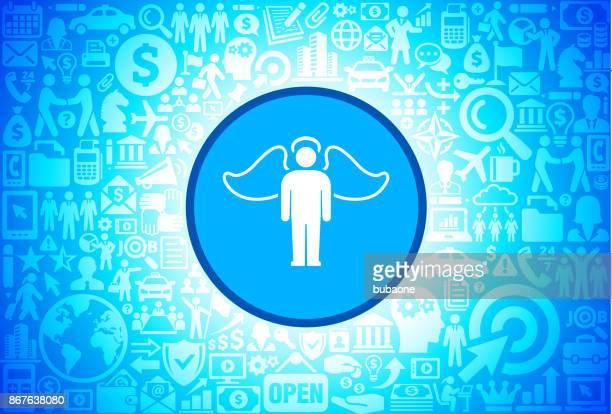 Engel-Symbol auf Business und Finance Vector Hintergrund