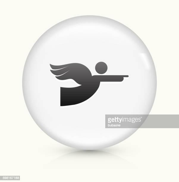 Angel icon on white round vector button