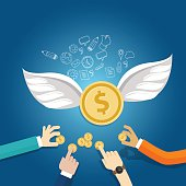angel investor money fund management startup coin wings fly