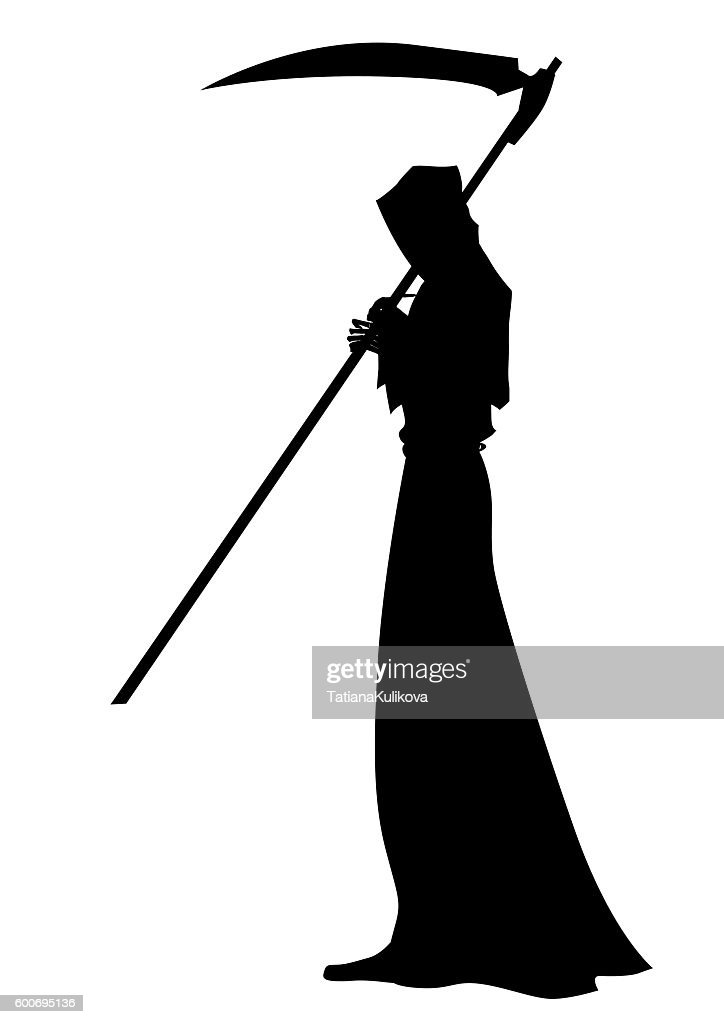 Angel of death with a scythe in his hands