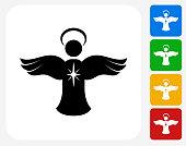 Angel Ornament Icon Flat Graphic Design