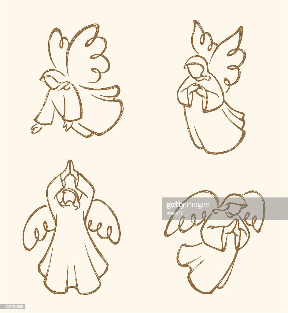 Angel Sketch Set 2