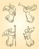 Angel Sketch Set 3