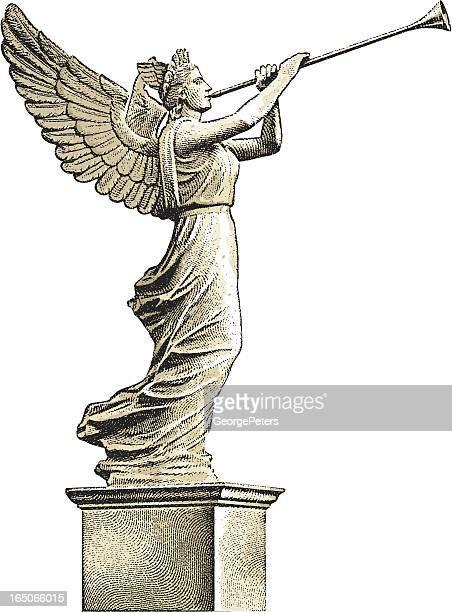 天使の像 - 像点のイラスト素材/クリップアート素材/マンガ素材/アイコン素材