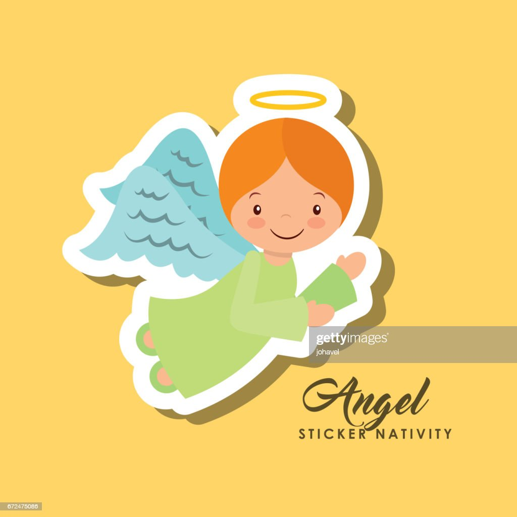 angel sticker nativity