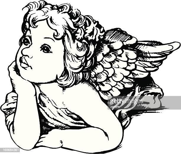 angel - angel stock illustrations