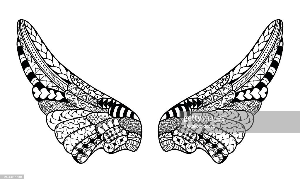 Angel wings, highly detailed illustration