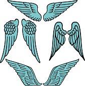 Angel wings linear set