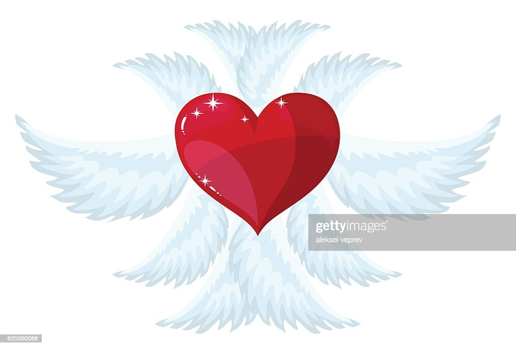 angel wings over white background. vector illustration