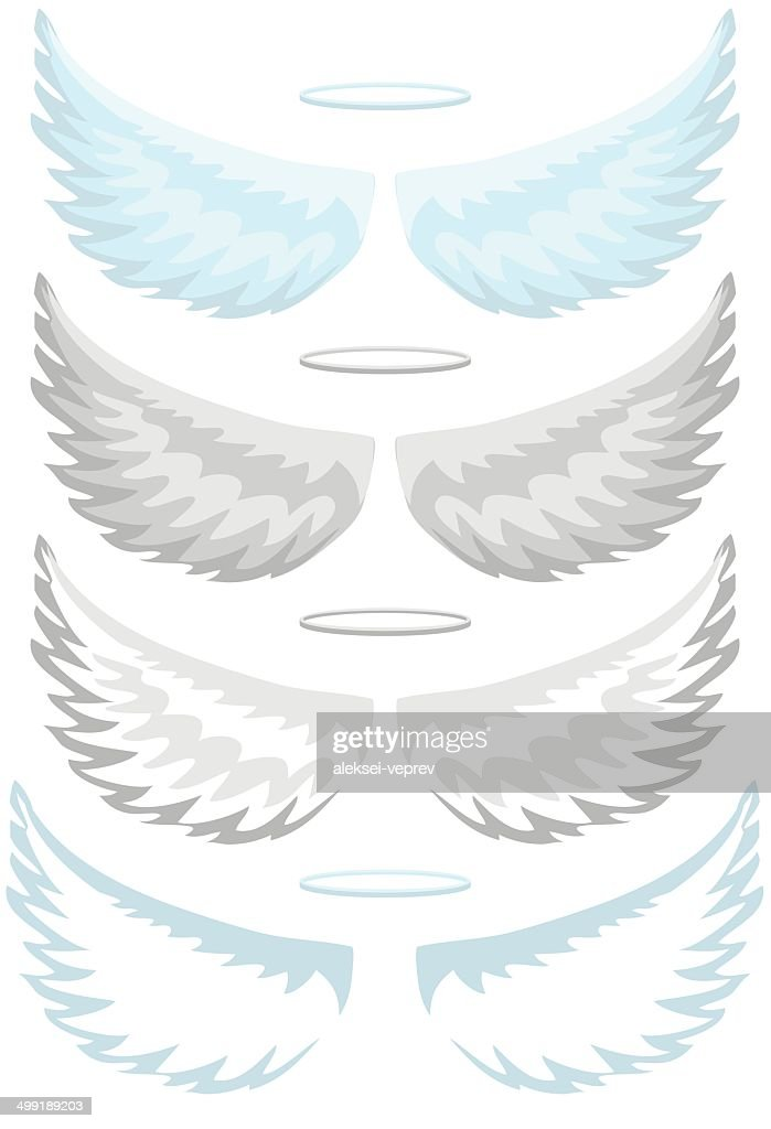 Angel wings, set