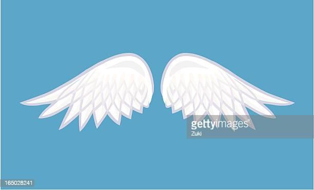 ilustrações, clipart, desenhos animados e ícones de asas de anjo - asa animal