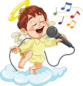 Angel with microphone