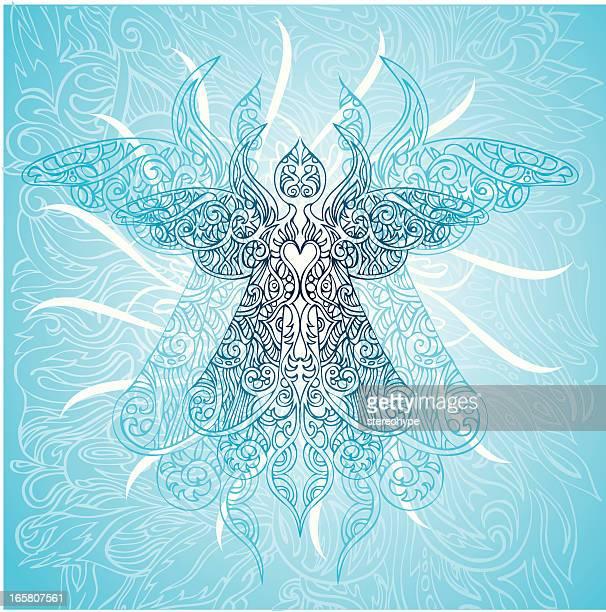 angelic ascenscion - chakra stock illustrations, clip art, cartoons, & icons