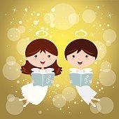 Angels singing joyfully