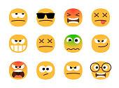 anger emoticons angry emoji set shocked