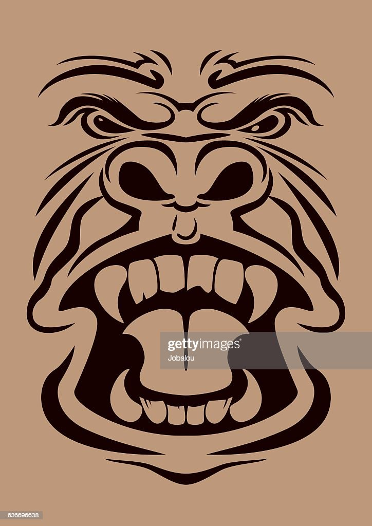 Anger Gorilla Head