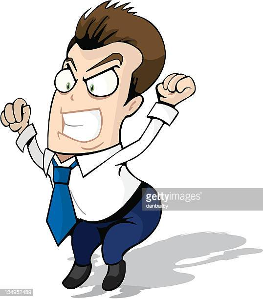 anger management - office fight stock illustrations, clip art, cartoons, & icons
