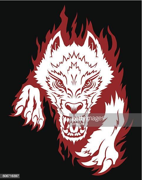 anger wolf - werewolf stock illustrations, clip art, cartoons, & icons