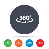 Angle 360 degrees sign icon. Geometry math symbol.