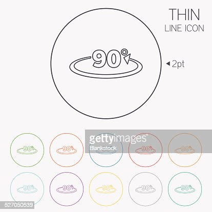 Angle 90 Degrees Sign Icon Geometry Math Symbol Vector Art Getty