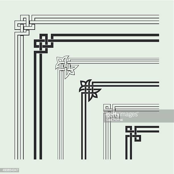アングル中国の伝統的なスタイルの装飾 - ケルト風点のイラスト素材/クリップアート素材/マンガ素材/アイコン素材