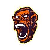 Angry Ape Mascot Vector Character