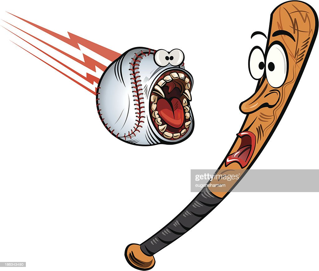 Angry Baseball and Bat