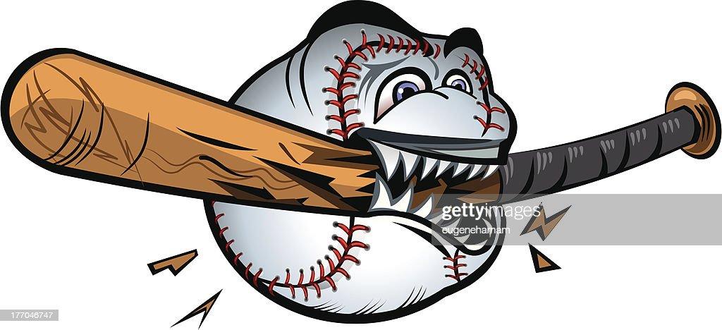 Angry Baseball devouring bat