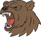Angry bear head 2