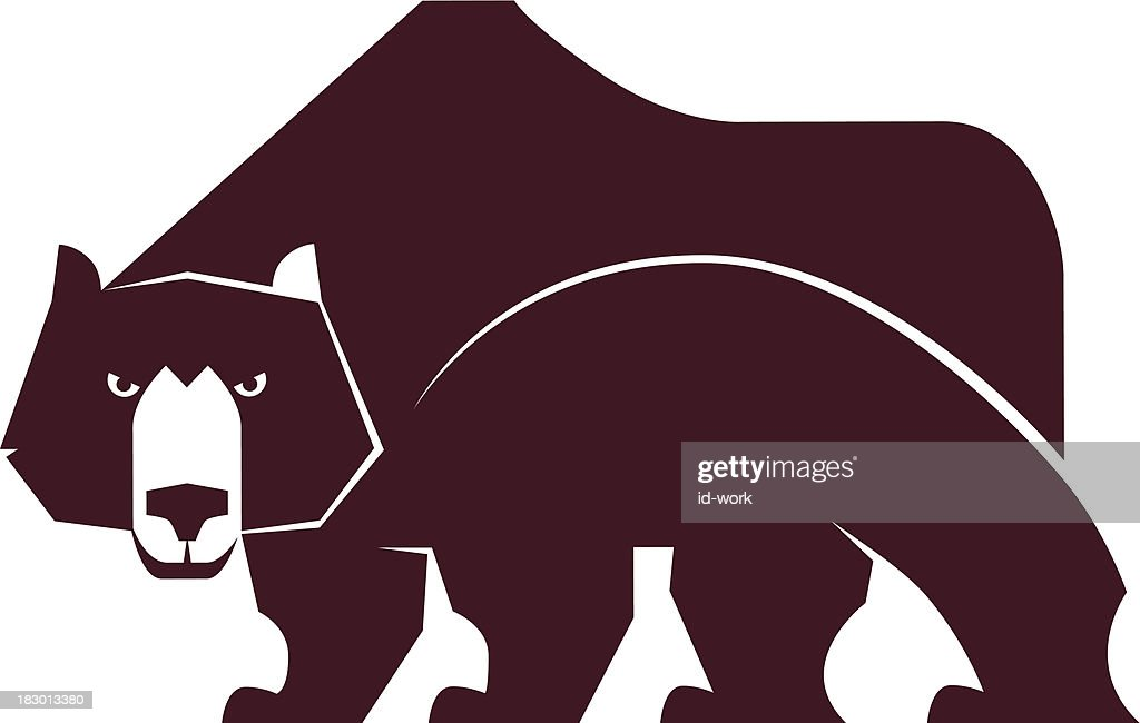 angry bear silhouette