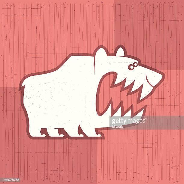 怒っているクマのシンボル