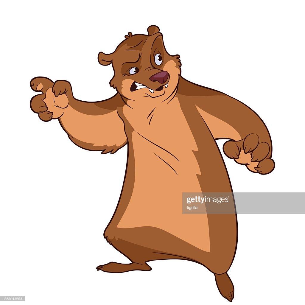 Angry Urso : Arte vetorial