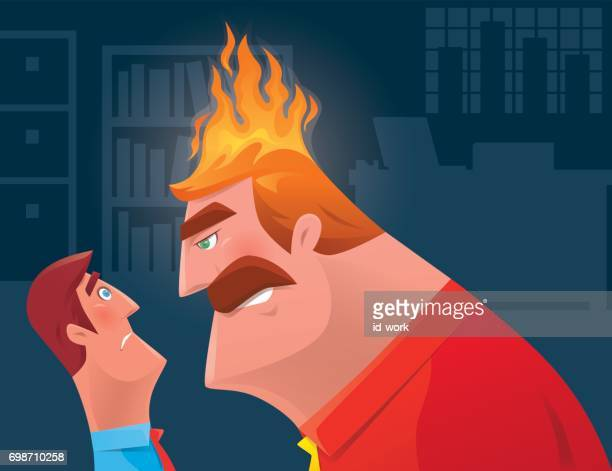 illustrations, cliparts, dessins animés et icônes de collègue face à patron en colère - seulement des adultes