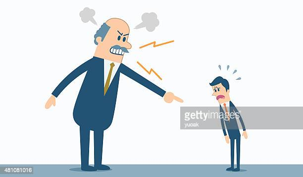 angry boss - foreman stock illustrations, clip art, cartoons, & icons