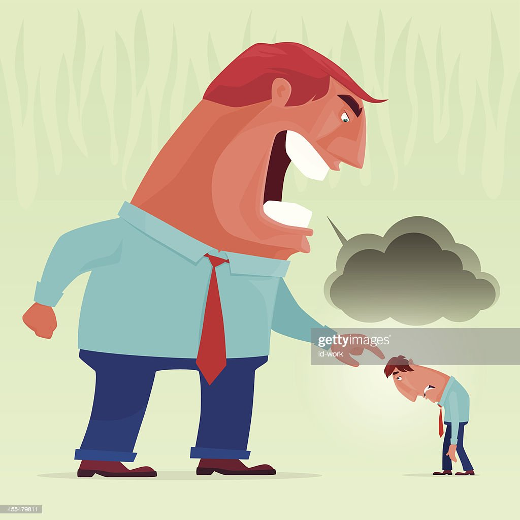 angry boss yelling