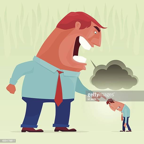illustrations, cliparts, dessins animés et icônes de colère boss yelling - contrarié