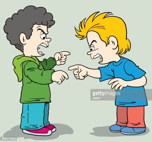 angry boys shouting - teasing stock illustrations, clip art, cartoons, & icons