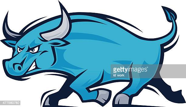 angry bull mascot - wild cattle stock illustrations, clip art, cartoons, & icons