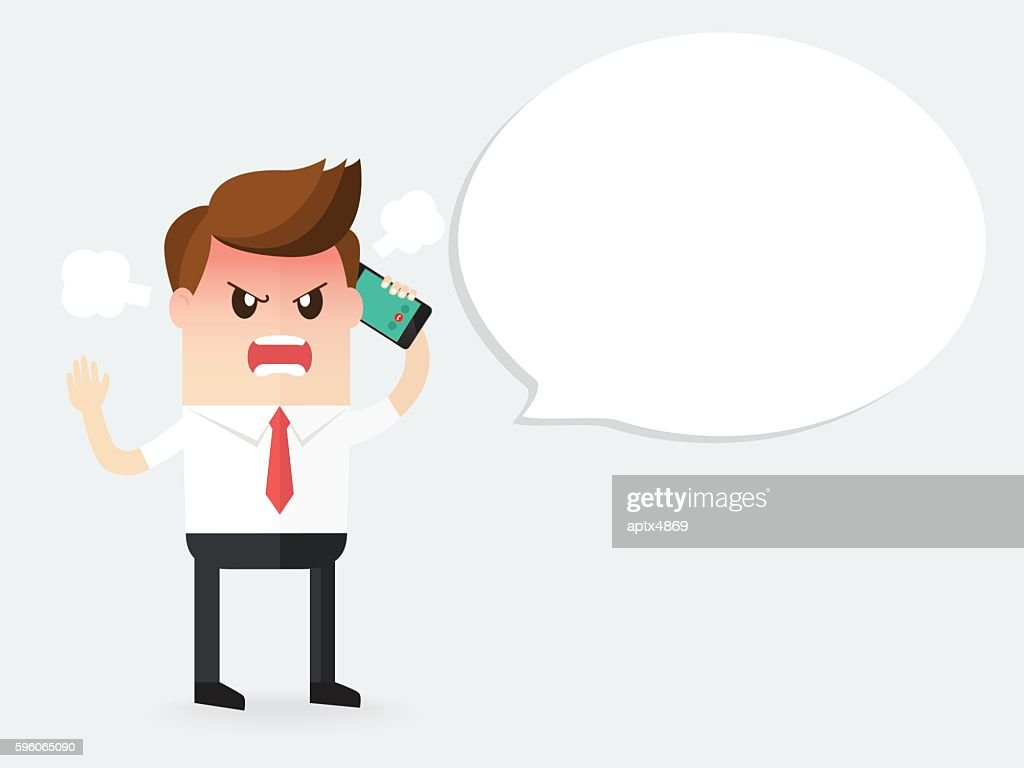 angry businessman shouting on a phone