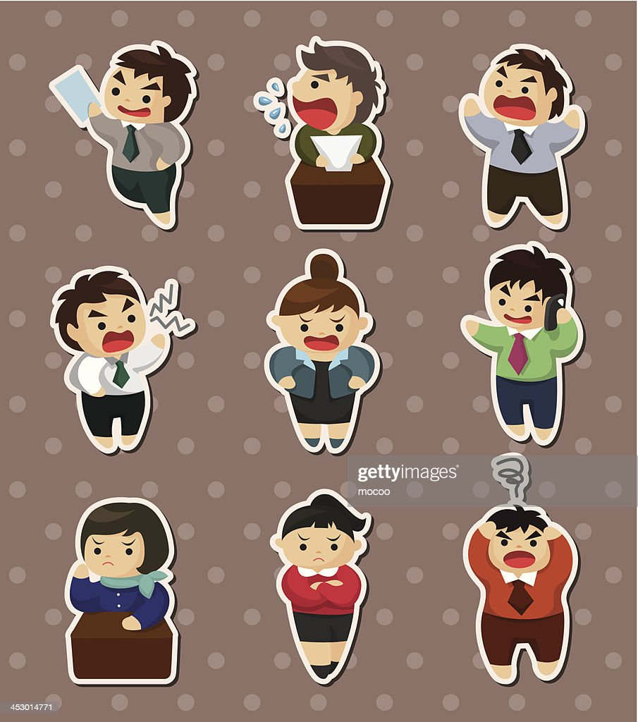 angry businessman stickers